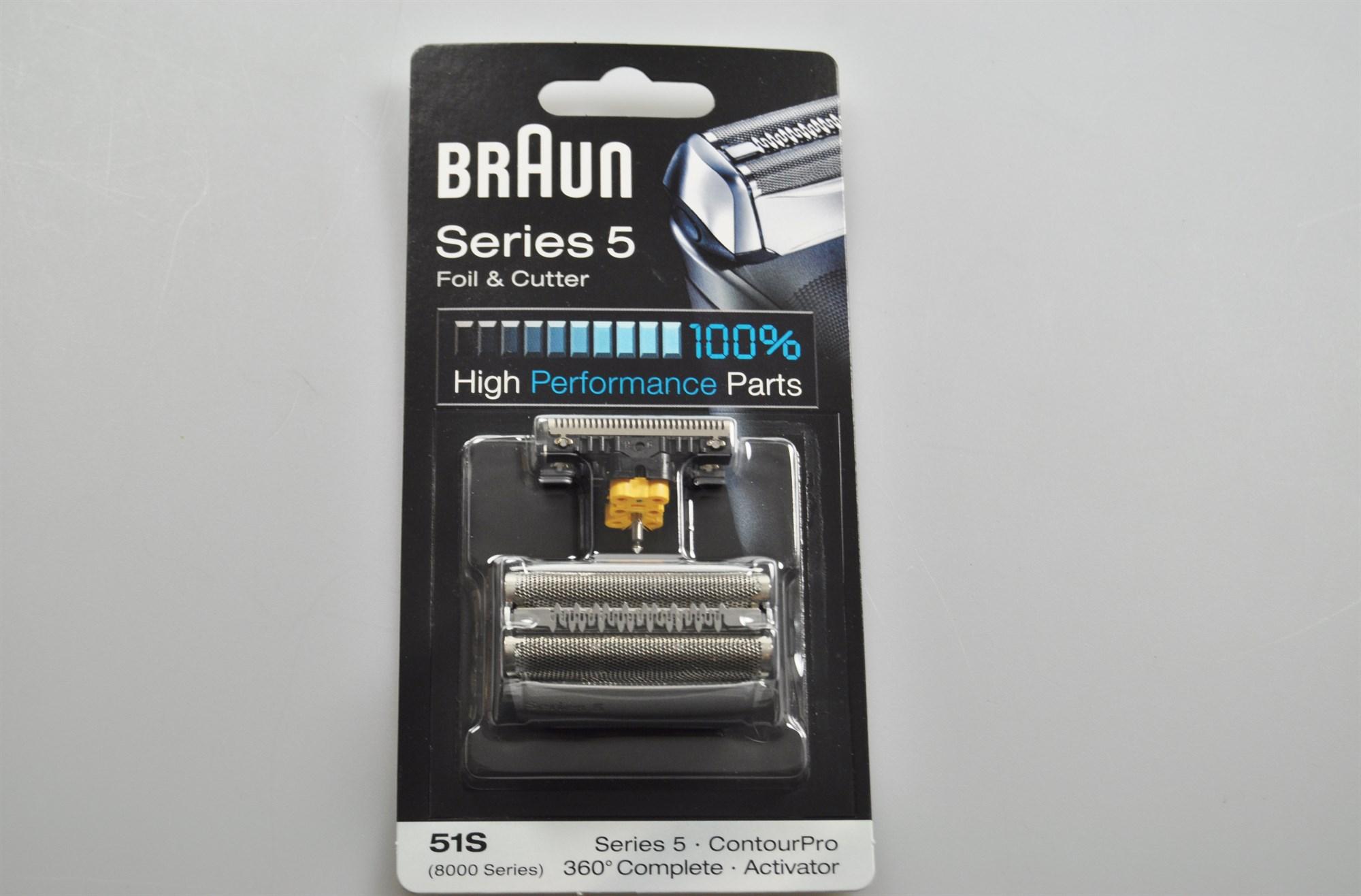8000 für Braun 51S Rasierer Scherblatt Scherfolie ContourPro 360° Series 5